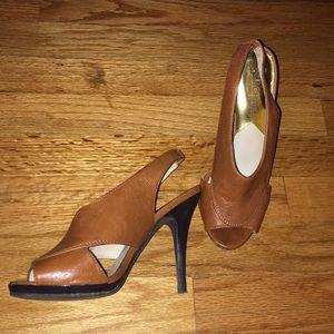 Michael Kors Leather Slingback Heels